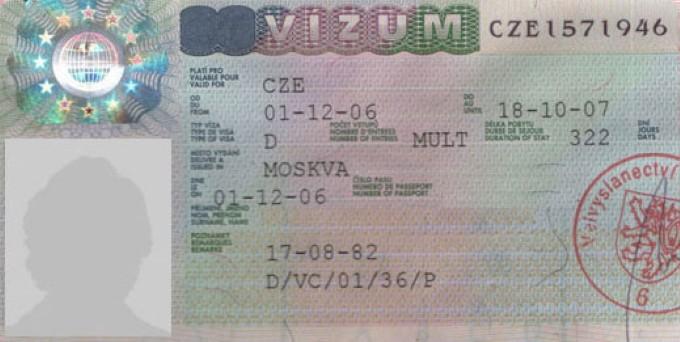 Расшифровка кодов на чешских визах