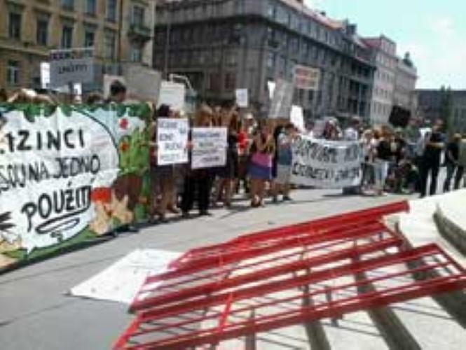 Happening против проекта закона об иностранцах (фото)